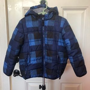Carter's Boys Puffed Hoodie Blue Jacket Size 5T